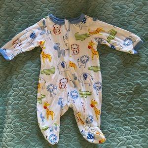 Like New 7 Baby Boy Sleepers & 1 Swaddle